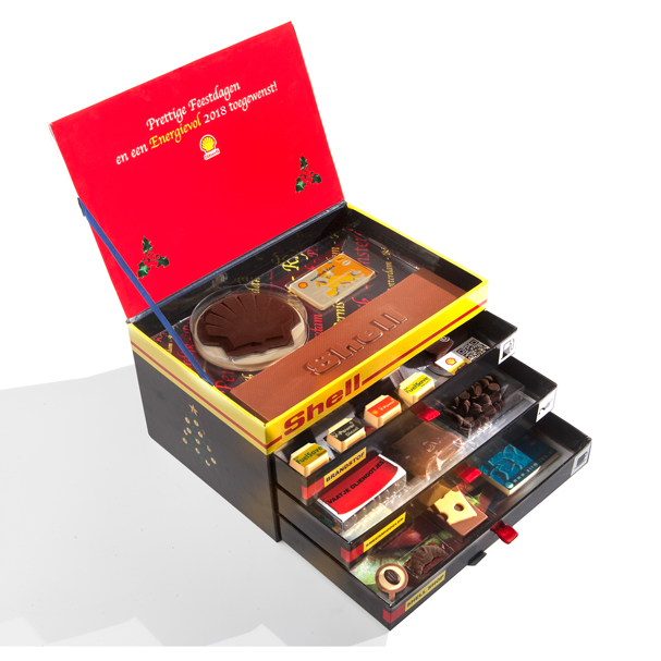 Shell relatiegeschenk chocolade