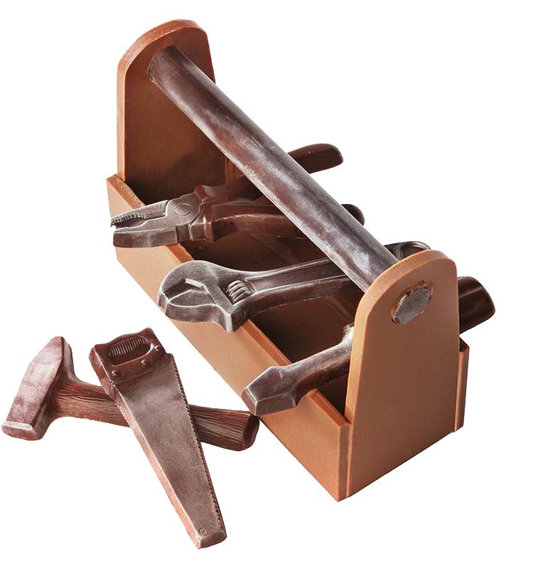 Geschenken chocolade gereedschapskist