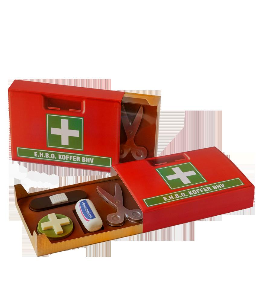 EHBO koffer van chocolade geschenk medisch zorg