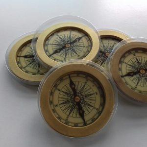 Chocolade kompas relatiegeschenk scheepvaart padvinders