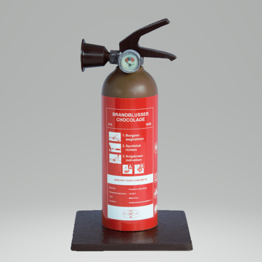 Chocolade brandblusser geschenk brandweer BHV Sinterklaas